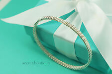 """AUTHENTIC Tiffany & Co. Somerset Mesh Thin Bangle Bracelet 7.5"""" (#655)"""