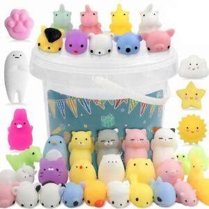 50PCS Cute Animal Squishies Kawaii Mochi Squeeze Stretch Stress Squishy Toys NEW