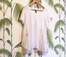 Femme BCBGMaxazria blanc top - (us) grande taille-utilisé