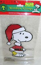 Snoopy Santa Christmas Gel Window Cling NIP