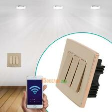 Wireless WiFi Smart Light Switch Wall Power Panel App Remote Control 3 Gangs