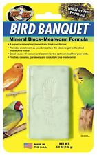 ZOO MED BIRD BANQUET MEALWORM MINERAL BLOCK LARGE 5 OZ CHEW BONE FREE SHIP USA