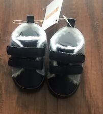 Gymboree Baby Boy Gray Blue Velco Strap Shoes Size 6-12 Months NWT