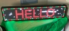 Pre Owned Cx P6 Full Color Indoor Led Sign Usb Programmable Rolling 40x9inch