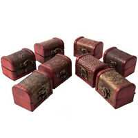 Wooden Vintage Treasure Chest Wood Jewellery Storage Box Case Organiser Ring ME