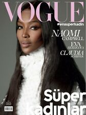 Vogue TURKEY November,Naomi Campbell,Eva Herzigova,Claudia Schiffer  SEALED