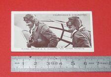 CHURCHMAN CIGARETTES CARD 1939 KINGS OF SPEED AVIATION CLOUSTON - RICKETTS