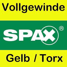 Original Spax Spanplattenschrauben gelb Torx Vollgewinde Größe nach Wahl