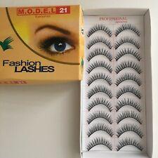 MODEL 21  False Eyelashes No. 4X - 10 Pairs Package, Brand New