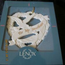 """Lenox ornament, """"For my Sweetheart"""", Old, in green box"""