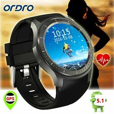 Ordro SW58 Android 5.1 3G Smart Watch Heart Rate Tracker GPS WiFi for iPhone7/6s