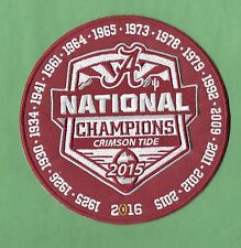 "New Alabama Crimson Tide All Year 6"" 2015 Champions Iron on Patch Free Shipping"