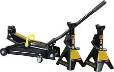 Trolley Jack With Jack Stands In Case Black 2.25 Tons Automotive Equipment Tools