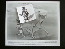 BAMBI Thumper Publicity Photograph Walt Disney 8x10 Glossy Re-Release Lobby Card