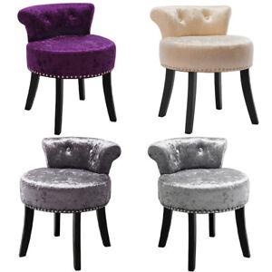 Fabric Velvet Dressing Table Stool Bedroom Vanity Piano Stool Wooden/Metal Legs