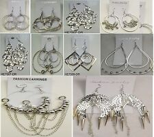 SU-5 Wholesale lot10 pairs Fashion  Big Dangle Silver Plated  Earrings US-SELLER