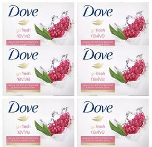 Dove Beauty Bar Pomegranate and Lemon Verbena Go Fresh and Revive 3.75 oz 6 Bars