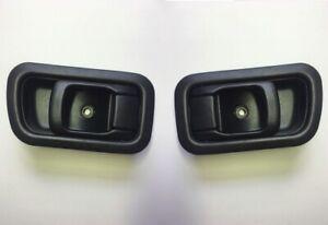 Pair Inside Interior Door Handle Black for Nissan Frontier Navara D22 97-04