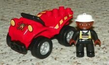 LEGO - Duplo, Four Wheeler with Fire Pattern & Fireman Mini Figure