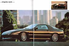 Mazda RX-7 Turbo 1989-92 UK Market Sales Brochure Coupe Convertible