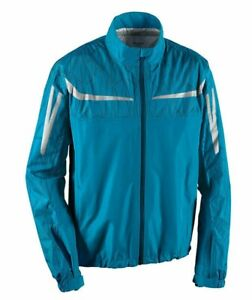 New BMW RainLock Rain Suit Jacket Unisex Medium Blue #76258553626