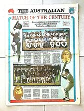 New listing 1977 AUSTRALIA vs ENGLAND 100 YRS TEST CRICKET 11 PAGE SUPPLEMENT-THE AUSTRALIAN