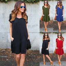 Summer New Sleeveless Casual  Cocktail Short Dress Evening Party Fashion Women