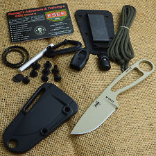ESEE Izula Desert Tan 1095 Fixed Blade Survival Knife With Kit Izula-DT Kit