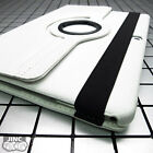 WHITE Leather Book Case BookCase Cover Pouch for Apple iPad Pro/iPadPro 12.9""