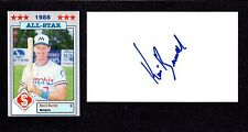 Kevin Burrell MINORS 1981-91 BOS  NYM SF KC  SIGNED AUTOGRAPH AUTO 3x5 INDEX COA