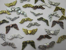 30x Mixed Tibetan Silver bronze golden Angel Fairy Wings Spacer Beads Charms ..