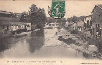 BAR-LE-DUC 12 LL l'ornain vu du pont notre-dame timbrée 1912