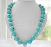 "18""AAA Beads Necklace Natural Round Turquoise Blue Genuine Gemstone 8/10/12/14mm"