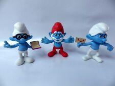 Figurine lot 3 Schtroumpfs Jouet Toys Mc Donald's 2013 schtroumpf 8 cm