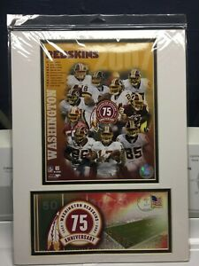 "USPS Washington Redskins 2006-07 Team Composite 12""x16"" -Photo/75th Anniversary"