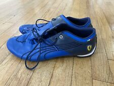 RARE Puma Ferrari Future Cat M1 Leather Mens Shoes Size 12 Blue Black EUC