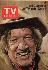 1974 TV Guide February 23 -Richard Boone; Gloria Swanson; Blythe Danner;Upstairs