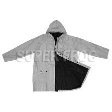 Bicolour Reversible Raincoat Waterproof Rain Coat PVC Jacket Rainproof Raincoats Black&silver