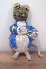 """Signore del mouse da Beatrix Potter una nuova mano a maglia Bambola/giocattolo 19cm/7"""".1/2in"""