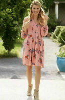 Matilda Jane Lets Go Out Dress Size XL X Large Floral In Bag Pink Womens