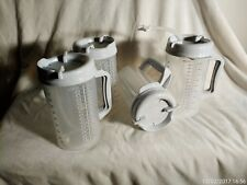 New Lot of 4, 32 OZ Whirley TM-32 Thermo Hospital Mug with Pitcher Lid