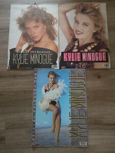 Three (3) Vintage Kylie Minogue Wall Calendars 1989 1990 & 1991 Popstar Danilo