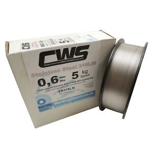 Stainless Steel MIG Welding Wire 316LSi 5kg 0.6mm Layer Wound. Free Delivery