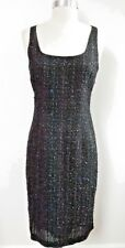 NEW MICHAEL KORS COLLECTION $1,695 black fantasy tweed dress size 6