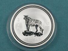 2007/2010 1 oz Silver Australian Lunar Series I Coin Year of the Tiger Scarce!