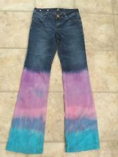 Tie Dyed Jeans Size 3 South Pole Jeans Upcycled Festival Boho OOAK