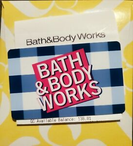 Bath And Body Works Merchandise Credit Gift Card For 138.81