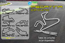 Circuitos de MotoGP circuito pegatina vinilo sticker decal vinyl autocollant