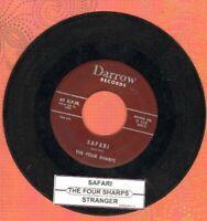 Four Sharps - Safari/Stranger Vinyl 45 rpm record Free Shipping
