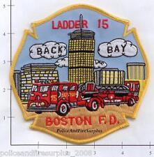 Massachusetts - Boston Ladder 15 MA Fire Dept Patch - Back Bay